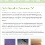 Mein Gipfel-Sixpack im Tannheimer Tal als Alpen-Reporter