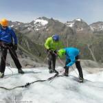 Eiskurs am Taschachhaus - Ausbildung auf dem Gletscher