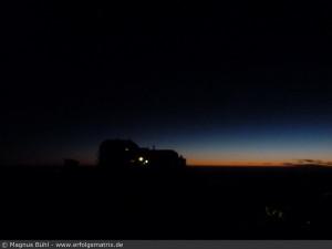 Watzmann-Überschreitung am 01. August 2013 - Watzmann-Haus morgens um 04:30