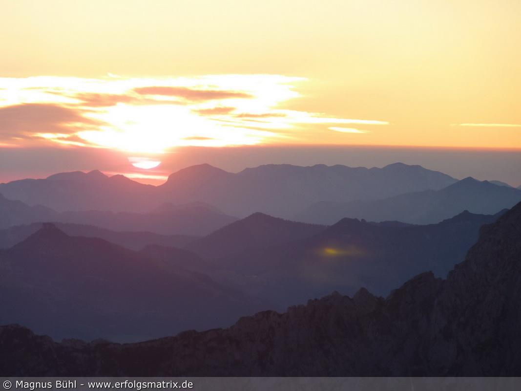 Sonnenaufgang am Watzmann