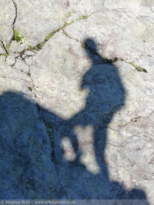 Schatten am Watzmann-Mittelgipfel