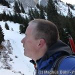 Aufstieg auf Höhe der Tannheimer Hütte