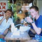 Mit Hannes Blaschke beim Frühstück - Donnuts und Kaffee