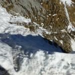 ein paar ungesicherte Meter auf Schnee - Pickel sei Dank