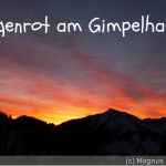 Morgenrot am Gimpelhaus