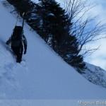 Rappenseehütte im Winter - 45-50 Grad Querung am Mußkopf