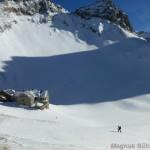 Rappenseehütte im Winter - Blick in Richtung Große Steinscharte