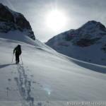 Rappenseehütte im Winter - Aufstieg zur Großen Steinscharte