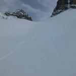 Rappenseehütte im Winter - Abfahrt von der Großen Steinscharte