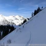 Rappenseehütte im Winter - unterhalb vom Mußkopf