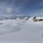 Rappenseehütte im Winter - Rückblick zur Hütte