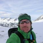 Rappenseehütte im Winter - mein Bergpartner Heiko