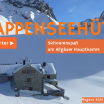 Rappenseehütte im Winter - Skitourenspaß am Allgäuer Hauptkamm