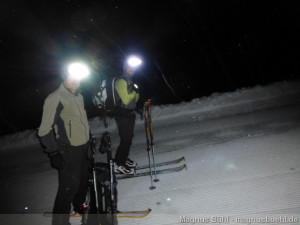 Wildspitze im Winter - Tourengänger mit Heiligenschein