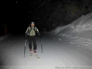 Wildspitze im Winter - Aufstieg im Notweg
