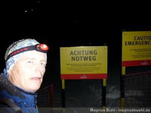 Wildspitze im Winter - Achtung, ab hier gesichertes Gelände ;-)
