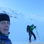 Wildspite im Winter - Aufstieg am Taschachferner unterhalb des Eisbruchs