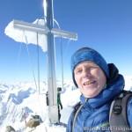Wildspitze im Winter - am Gipfel
