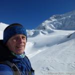 Wildspitze im Winter - im Auslauf des Taschachferner