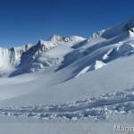Wildspitze im Winter - Abfahrt über den Taschachferner Richtung Mittelbergjoch