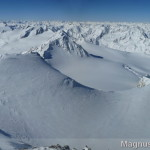Wildspitze im Winter - SW-Grat und Rückblick zur Aufstiegsroute