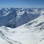 Wildspitze im Winter - am Gipfel - Blick nach S