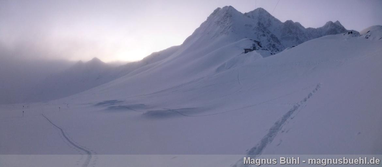 Wildspitze im Winter - am Mittelbergjoch