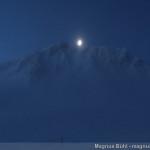 Wildspite im Winter - der Mond über dem Schluchtkogel