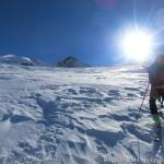 Wildspitze im Winter - der steile Schlussanstieg kostet Kraft