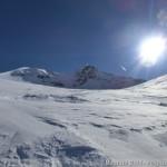 Wildspitze im Winter - nicht mehr weit bis zum Skidepot