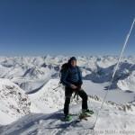 Wildspitze im Winter - am Gipfel - Blick nach NO