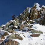 Wildspitze im Winter - Abstieg über die kleine Kletterstelle (I-II)