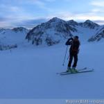 Mittelbergferner - Aufstieg auf der Skipiste