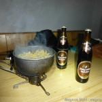 Braunschweiger Hütte Winterraum - Nudeln kochen und Weizen