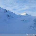 Wildspitze und Taschachferner im Sturm
