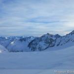 Pitztaler Gletscher im Sturm über den Graten