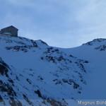 oben links die Braunschweiger Hütte - Zoom