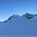 Hintere Schwärze - die Rampe zum Gipfel