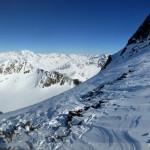 Hintere Schwärze - Gipfelsattel und Westgrat - nordseitig
