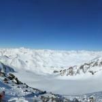 Hintere Schwärze - Gipfelsattel mit Blick auf die Aufstiegsroute