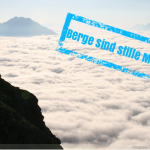 Berge sind stumme Meister