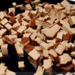 Vegane Quiche - Zubereitung Räuchertofu