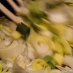 Vegane Quiche - Zubereitung Lauch