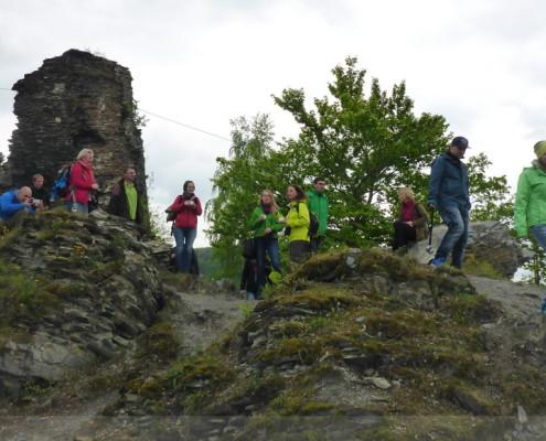 Blogger auf der Burg