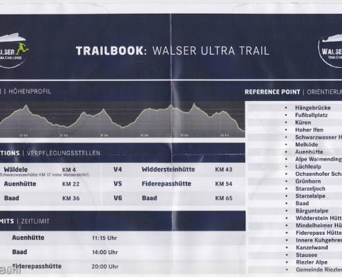 Walser Ultratrail - Trailbook