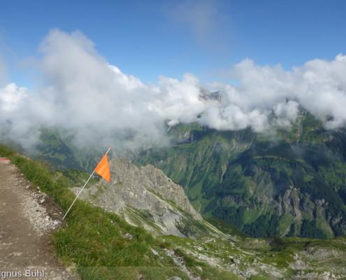 Walser Ultratrail - oben am Fiderepass