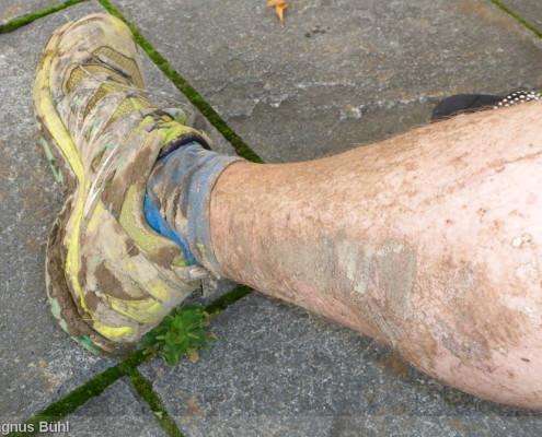 Walser Ultratrail - Schuhe putzen und Duschen lohnt sich
