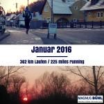 Laufkilometer und Ziele im Januar 2016