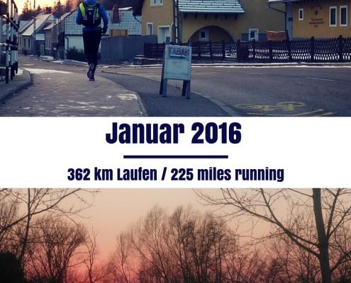 Laufkilometer Januar 2016