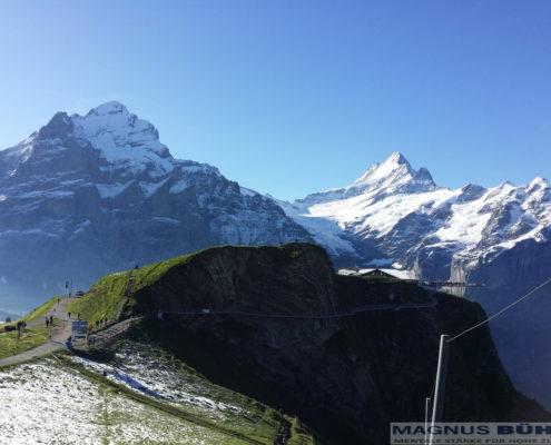 Geniales Panorama für alle Trailrunner beim Eiger Ultratrail 2016